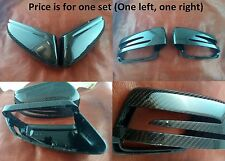 Fit Mercedes Benz Carbon Fiber Side Mirror Covers Set W204 W212 W207 W219 W176