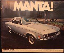 m Original Vintage 1973 Opel Manta Brochure