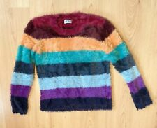 Next Girls Jumper Top Age 9 Fluffy Rainbow Winter Casual Day