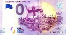 FINLANDE Helsinki, Ville et drapeau, 2018, Billet 0 € Souvenir