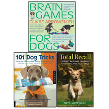 Puppy Training 3 Books Set Total Recall, 101 Dog Tricks and Brain Games For Dogs