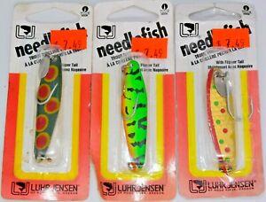 Three Luhr-Jensen# 1051-003 Size 3 Needlefish Trolling Spoon Fishing Lures