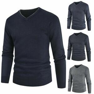 Tom Tompson Denim Men's V Neck Pullover Sweater 100% Cotton.