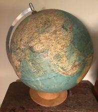 "Vintage Distressed Raith 1983 Polical World Globe 12"" Diameter"