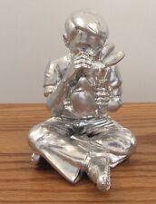 "Signed FAILE silver BUNNY BOY DREAMS 3D sculpture figurine 2005 rabbit 5"""