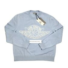 AIR DIOR CASHMERE/COTTON BABY BLUE KNITTED JUMPER SIZE: XL