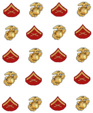 Marine Lance Corporal Patch Waterslide Nail Decals/ Nail Art