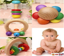 New Baby Kids Children Toddlers Wodden Rattle Toy hand bell Musical Educational