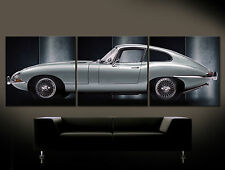Iron Icon - Jaguar E Type Canvas Picture over Sofa Art Print Sports Car Classic