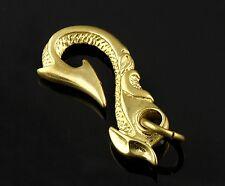 Vintage Biker  Fob Solid Brass Leather Craft accessory Belt Hook Wallet Clip