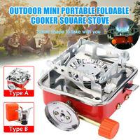 Portable Outdoor Mini Stove Gas Burner Camping Picnic Foldable w// Piezo Ignition