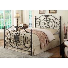 Coaster Co. of America - Gianna Metal Bed Full Bed Black Brushed Gold 300392F