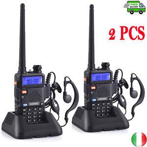 2PCS Walkie Talkie Professionali Ricetrasmittenti FM 128Canali Radio Portatile