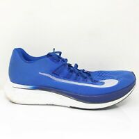 Nike Mens Zoom Fly 880848-411 Blue White Running Shoes Lace Up Low Top Size 11.5