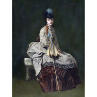 Jules Adolphe Goupil Woman Seated C1875 Painting Canvas Wall Art Print Poster
