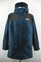 KARI TRAA Womens Jacket Outdoor Protected Hooded Long Zipped Coat Size L