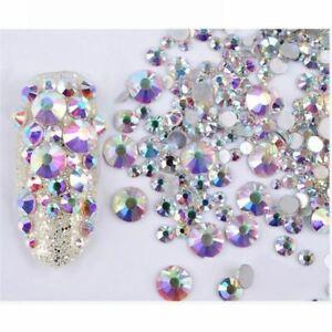 3D Mixed Nail Art Rhinestones Glitters Acrylic Tips Manicure Decoration 300PCS