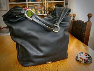Gucci  ' Hobo ' Black leather shoulder bag