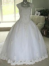 Moonlight White Wedding Dress Frothy Princess Bride Fairy tale Gown