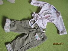 Pullover Shirt Weiß,Grün/Rosa gestreift Gr.62 Hose Samt Gr. 74 Olivgrün
