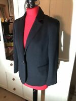 NEW LOOK Ladies Black Smart Tailored Classic Blazer Jacket Size 14