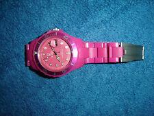 Reloj pulsera de plástico rosa rosa thewatch! Super cool cuasi nuevo gay vintage chicas