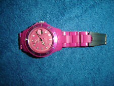 Plastik Armbanduhr Pink Rosa thewatch ! super cool quasi NEU gay VINTAGE Mädels