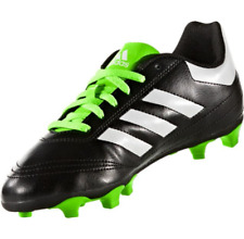 New Adidas Big Kid's Boy's Goletto Vi Fg Black/White/Green Soccer Shoes, Sz 4.5