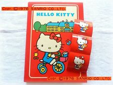 SANRIO VINTAGE Hello KITTY 1976 Quaderno copertina Anelli Ring Folder + STICKERS