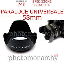 Paraluce UNIVERSALE a PETALO - 58 mm Canon Nikon Sigma Tamron Sony Pentax - 58mm