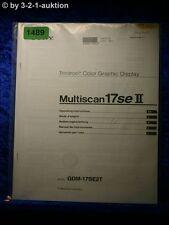 Sony Bedienungsanleitung GDM 17SE2T Multiscan 17se II Grphic Display (#1489)