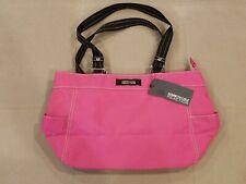 Kenneth Cole Reaction Pink Nylon Shoulder Handbag/Tote/Purse