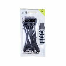 Black Shoe Laces Lacing System Elastic Hickies Kids Teens No Tie Shoelaces New