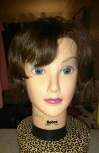 BURMAX Brunette COSMETOLOGY HEAD MANNEQUIN DEBRA 100% HUMAN HAIR Displays