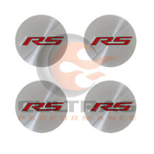 2016-2018 Camaro Genuine GM Aluminum Center Cap Red RS Logo Set Of 4 19351756