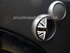 MINI COOPER R50 R52 R53 JCW Aluminum Door Emblem in Black Union Jack