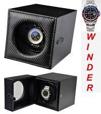 Luxury Display Single Automatic Watch Winder-model: Leathertex-1CF Carbon Fibre