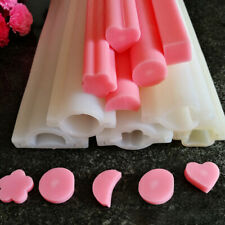 Soap Mold Silicone Tube Candle Mould Heart Round Hand Crafts Pastry Diy Making