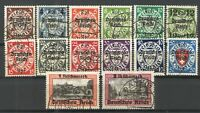 Germany - Danzig 1939 Sc# 241-254 Used VG/F - Scarce Complete used set