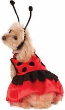 Ladybug Dress Dog Costume - LARGE - Tulle - Antenna - Halloween - Rubie's - NWT