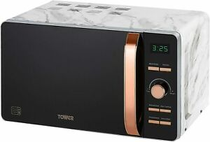 Tower T24021WMRG Digital Solo Microwave, 800 W, 20 Litre, Marble and Rose Gold