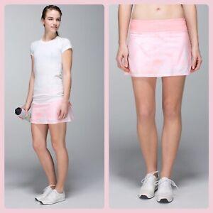 NWOT Lululemon Pace Setter Skort Tie Dye Pink 6 Reg