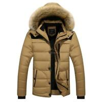Men's Winter Warm Casual Hooded Thick Jacket Padded Overcoat Outwear Coat Parka