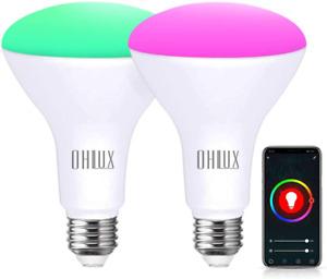 OHLUX Smart WiFi Flood Light Bulb E26 Base 900Lumen (100W Equivalent),10W BR30 L