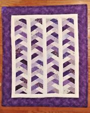 Handmade   Doll quilt for 18 inch dolls   shades of purple