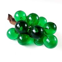 """Vintage Acrylic Lucite Green Grapes Cluster Driftwood Mid Century Decor 9"""""""