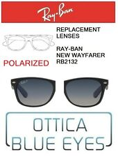 Lenti di Ricambio RAYBAN NEW WAYFARER RB2132 Replacement Lenses Ray Ban POLAR 78
