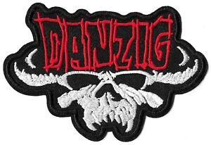 Danzig Skull Logo Patch [Embroidered] Patches Black Demon Symbol Emblem Badge