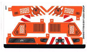 LEGO 42060 Sticker Sheet for Technic - Roadwork Crew - NEW Decals