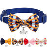 Blueberry Pet Timeless Classic Handmade Bow Tie Cat Collar with European Crystal